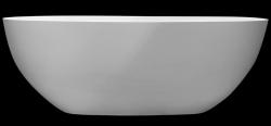 Solid-S Oval kleine vrijstaand ligbad 155x75 mat wit solid surface wit 1208954246