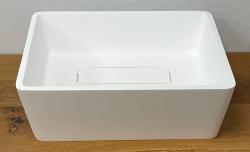Solid-S City kleine opbouwwastafel kom mat wit 39x32cm met verdekte afvoer 1208954249