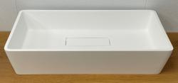 Solid-S City opbouwwastafel kom mat wit 62x32cm met verdekte afvoer 1208954250