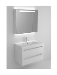 Riho Bellizzi meubelset 80cm 1 krg 2 laden Wit spiegelkast 06 BL080D00D00S07